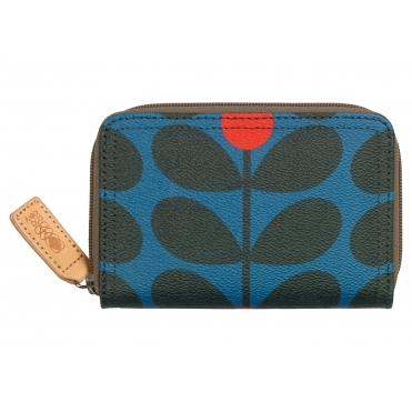Sixties Stem Medium Zip Wallet Purse - Kingfisher