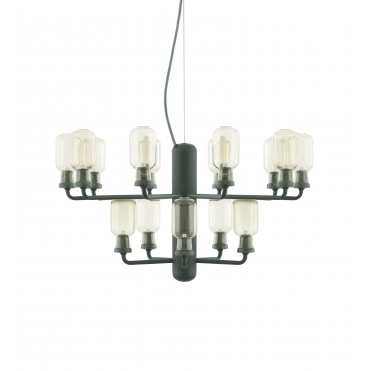 Small Amp Chandelier - Gold / Green