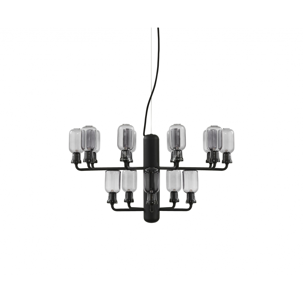 Small Amp Chandelier Smoke Black
