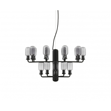 Small Amp Chandelier - Smoke / Black