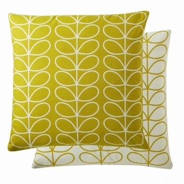 Small Linear Stem 50cm Cushion - Sunflower