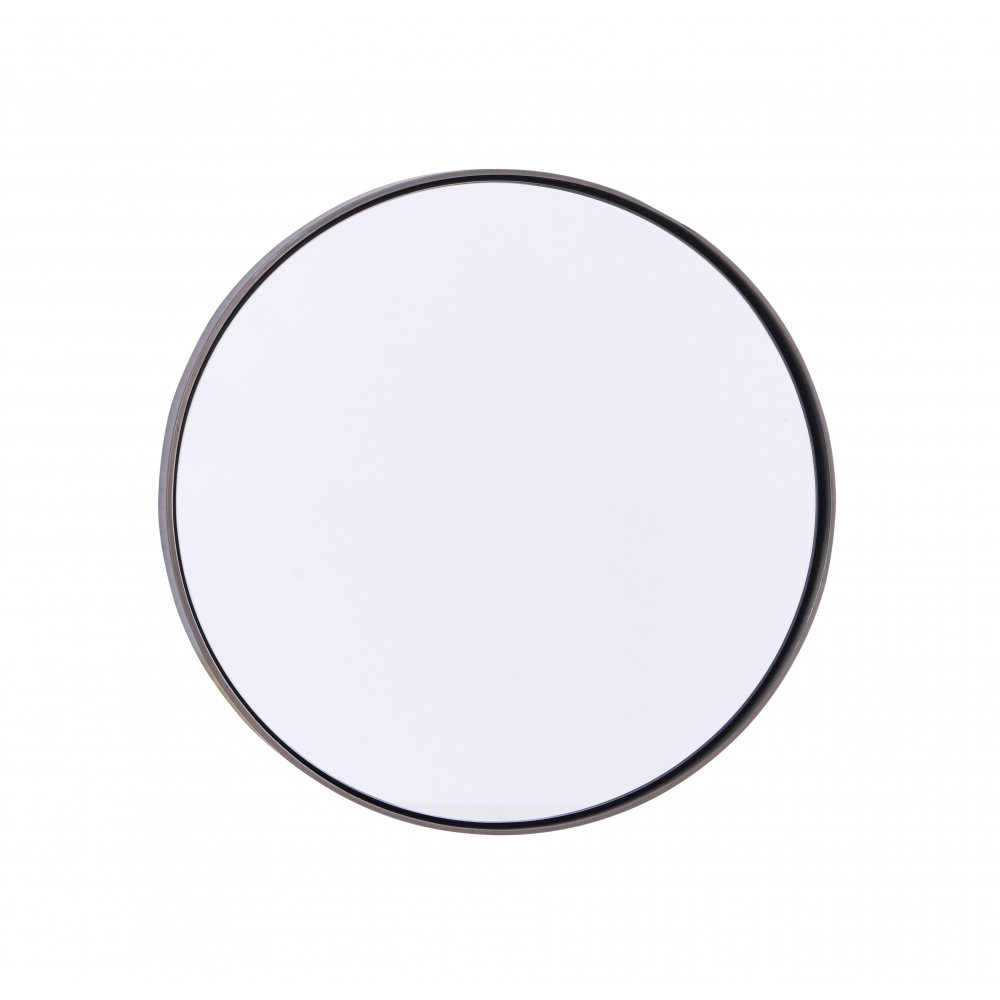 House Doctor Small Matte Black Iron Reflection Round Wall