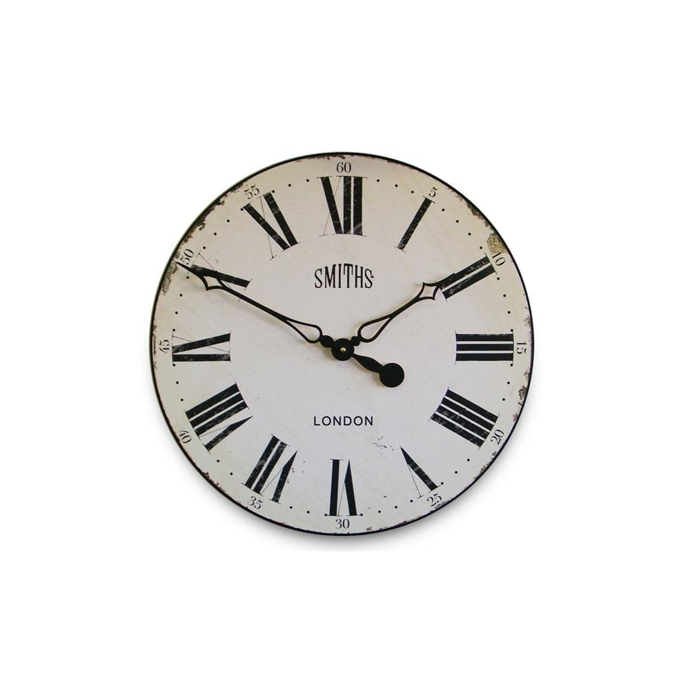 Smiths clocks antique style wall clock white hurn and hurn antique style wall clock white 50cm amipublicfo Choice Image