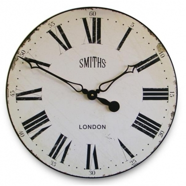 Antique Style Wall Clock White 50cm