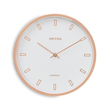 Rose Gold Wall Clock - White