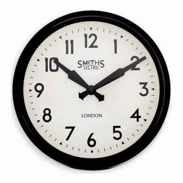 Sectric Retro Wall Clock Black 38cm