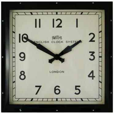 Square Wall Clock Black 41cm
