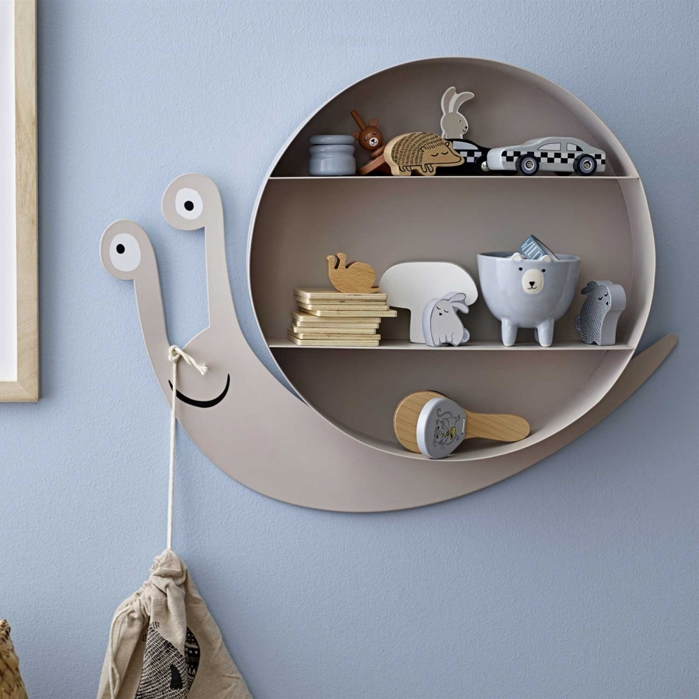 Snail Wall Mounted Childrens Storage Shelving Unit