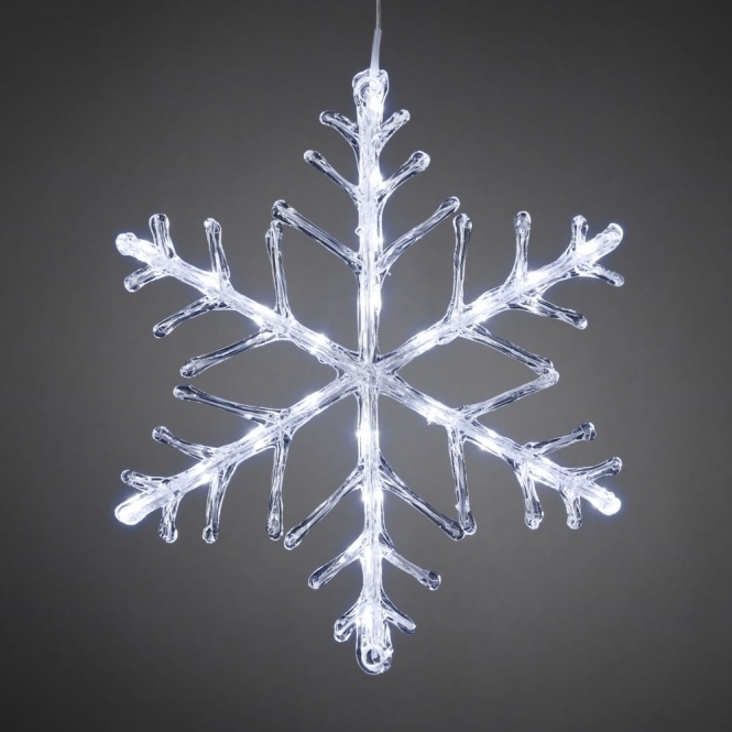 Hurn & Hurn Discoveries Snowflake Outdoor Christmas Light 40cm Cool White LED