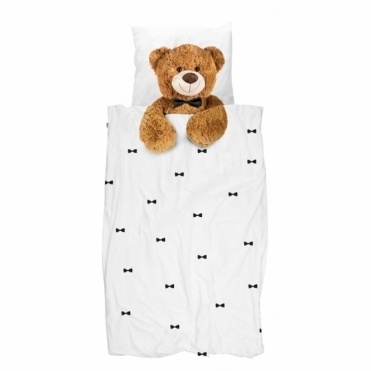 Teddy Bear Single Duvet Cover & Pillowcase Set