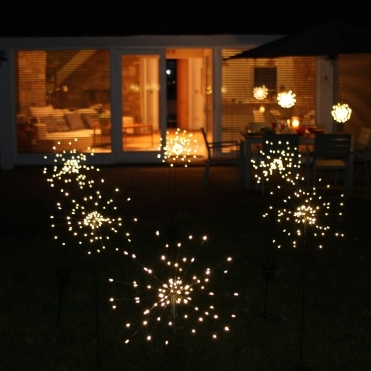 Solar Starburst LED Outdoor Stake Light