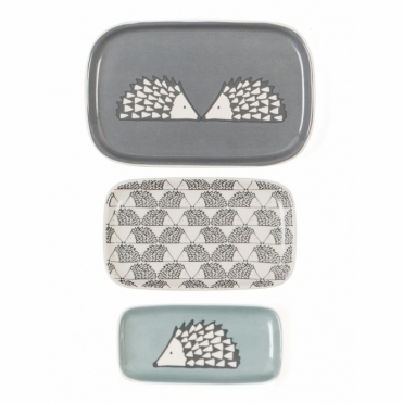 Spike the Hedgehog Trinket Dishes - Set of 3