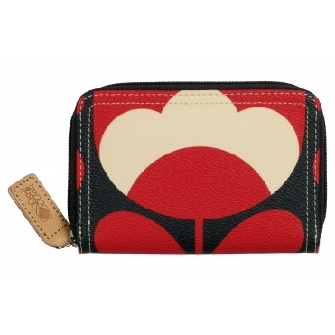 Spring Bloom Medium Zip Wallet Purse - Ruby