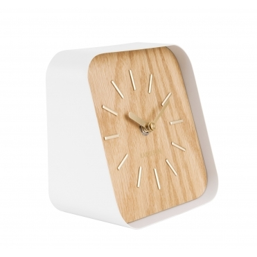Squared Table / Mantel Clock - Light Wood