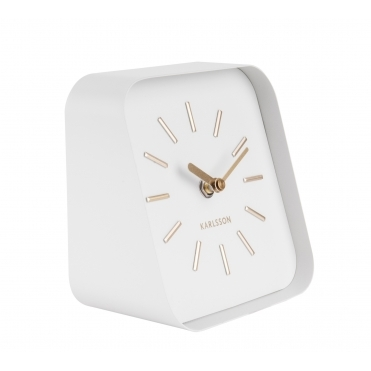 Squared Table / Mantel Clock - White