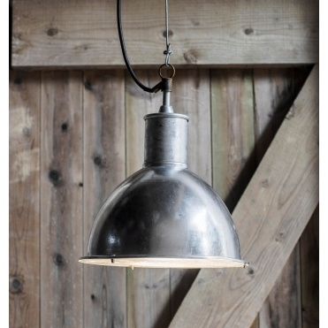 St Ives Bay Outdoor Pendant Light - Galvanised