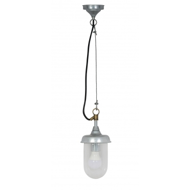 St Ives Harbour Outdoor Pendant Light - Galvanised