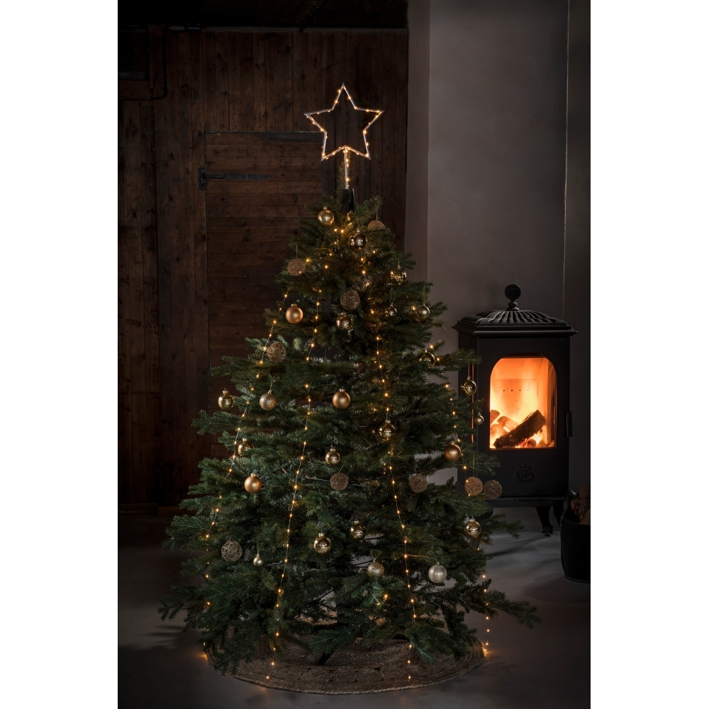 Star Christmas Tree Topper 274 Amber Led Lights Silver