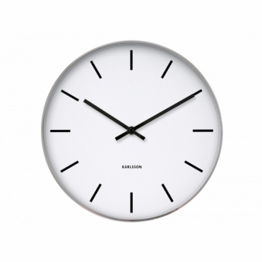 Station Classic Steel Polished 37.5cm Wall Clock