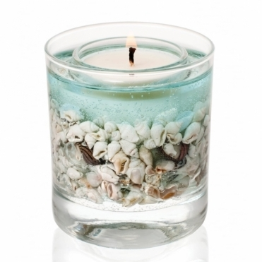 Natural Wax Gel Tumbler Scented Candle - Sea Shore