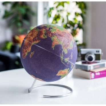 Colour Cork Globe in Gift Box 'Pinpoint Your Travels' - Large