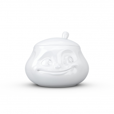 Sweet Face Porcelain Sugar Bowl White