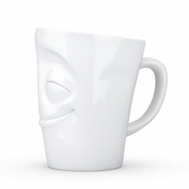 Cheery Happy Face Porcelain Mug White