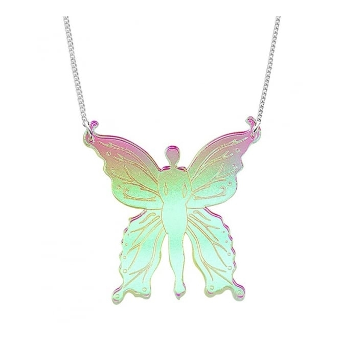 Tatty Devine Contemporary Iridescent Fairy Mini Necklace - SS17 Collection