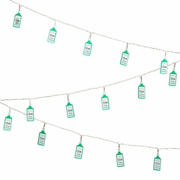 Gin Bottle String Lights in Gift Box