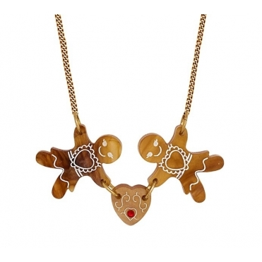 Gingerbread Friends Necklace