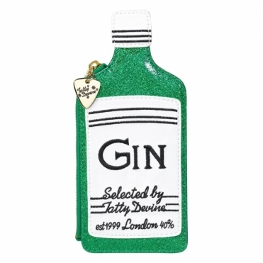 Glitter Gin Bottle Coin Purse