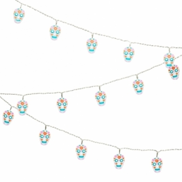Sugar Skull String Lights in Gift Box