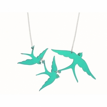 Swallow Triple Necklace - Turquoise