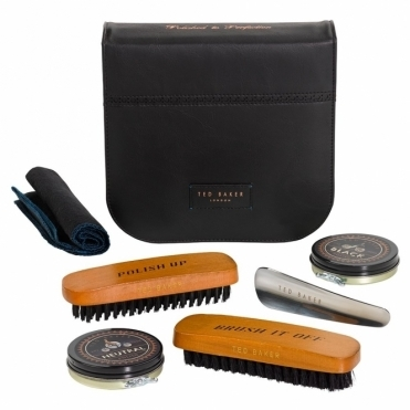 Black Brogue Shoe Shine Kit
