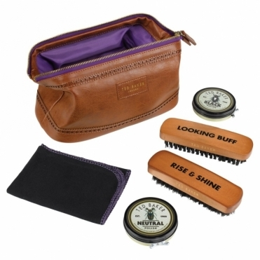 Brown Brogue Shoe Shine Kit