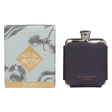 Cadet Blue Geo Hip Flask