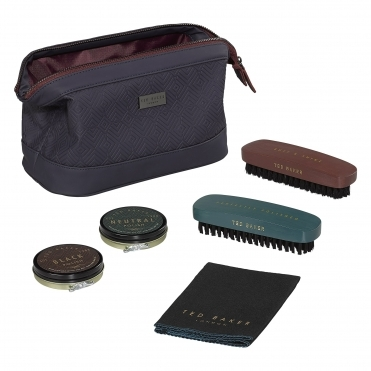 Cadet Blue Geo Shoe Shine Kit