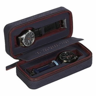 Cadet Blue Geo Travel Watch Storage Case