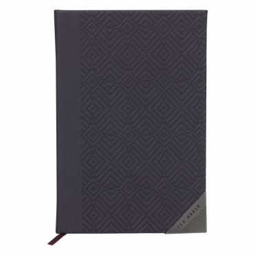 Cadet Blue Geometric A5 Notebook