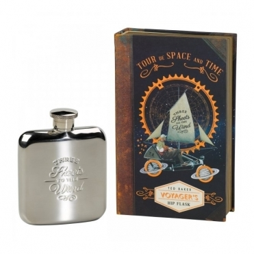 Voyager's Hip Flask 'Three Sheets to The Wind'