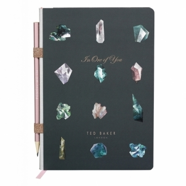 A5 Notebook with Pencil - Linear Gem