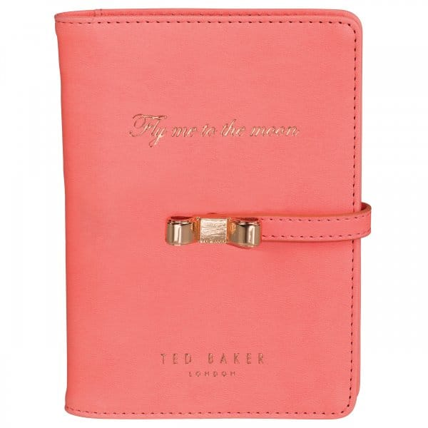 ted baker coral travel document holder with pen in gift box With women s travel document holder