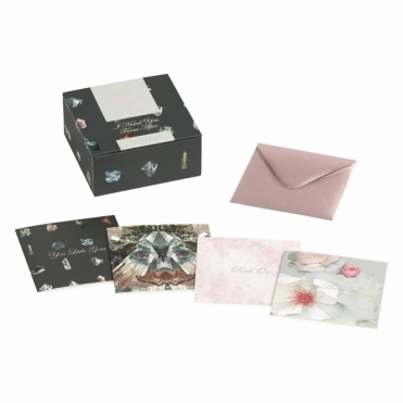 Note Cards & Envelopes Set - Linear Gem
