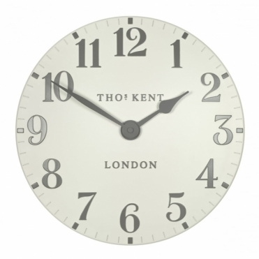 "Arabic 12"" Wall Clock - Double Cream"