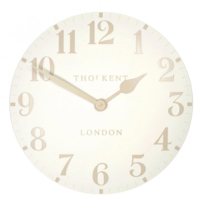 Thomas Kent Clocks Arabic Large 20 inch Wall Clock White Linen