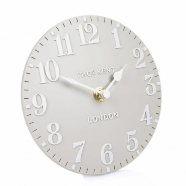 Arabic Mantel Clock Dove Grey