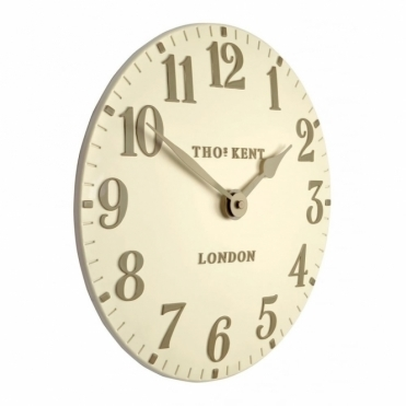 Arabic Small 12 inch Wall Clock Cream