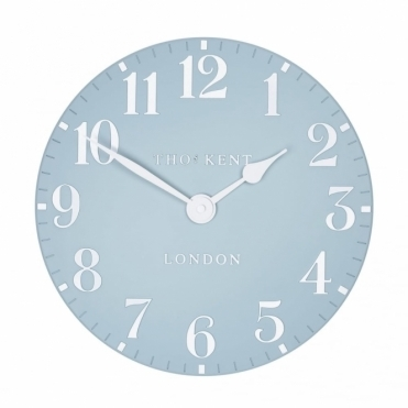 Arabic Small 12 inch Wall Clock Stonewash Blue