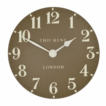 Arabic Small 12 inch Wall Clock Taupe