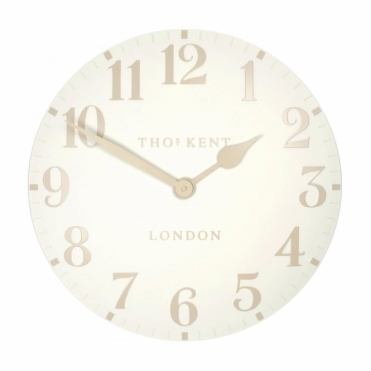 Arabic Small 12 inch Wall Clock White Linen
